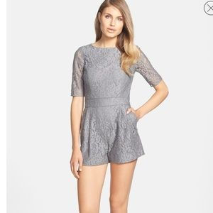 CeCe by Cynthia Steffe Maylie Lace Shorts Romper